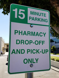 15 Minute Parking available for Dropoff and Pickup